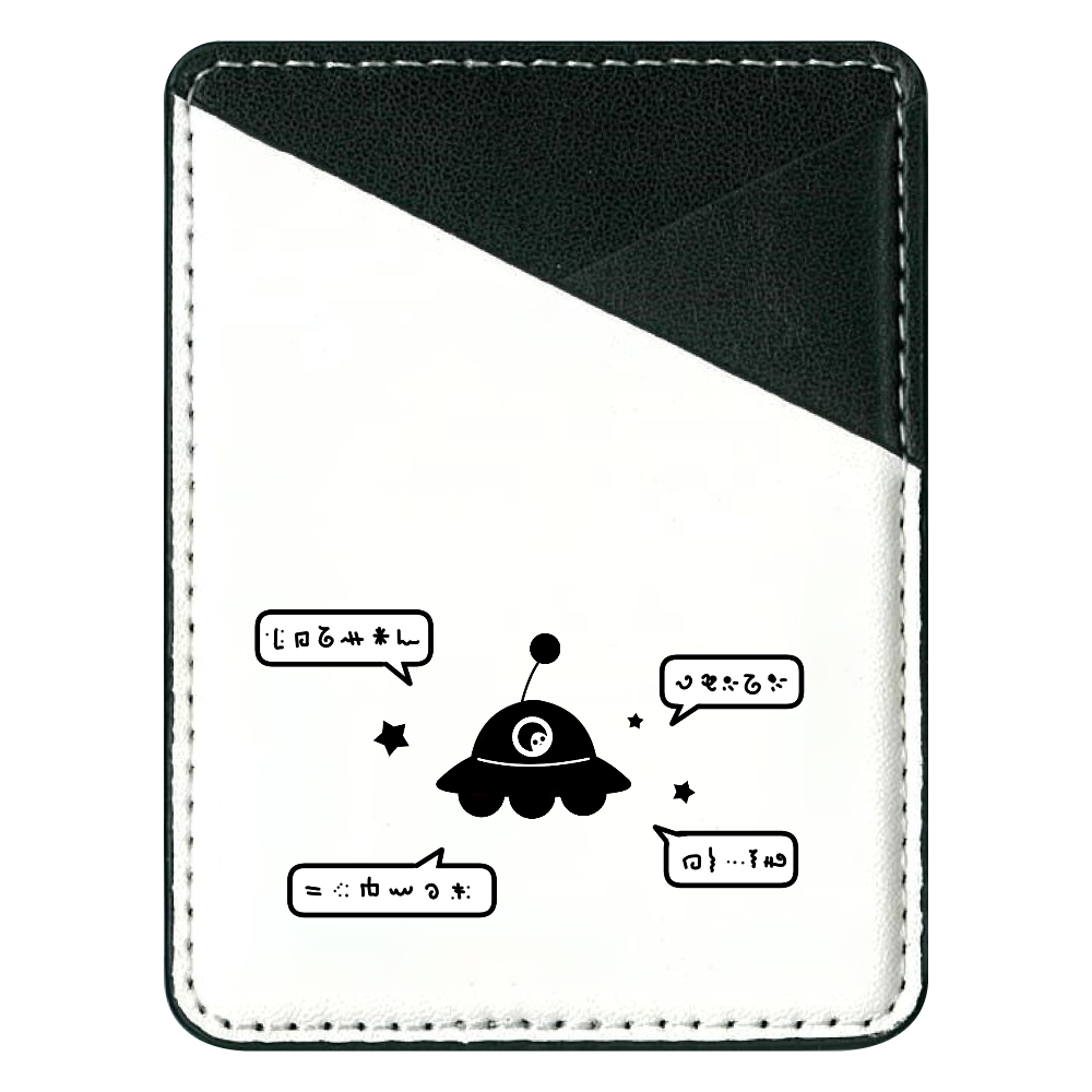 よく喋るUFO パスケース 貼り付けパスケース(スマホ用)