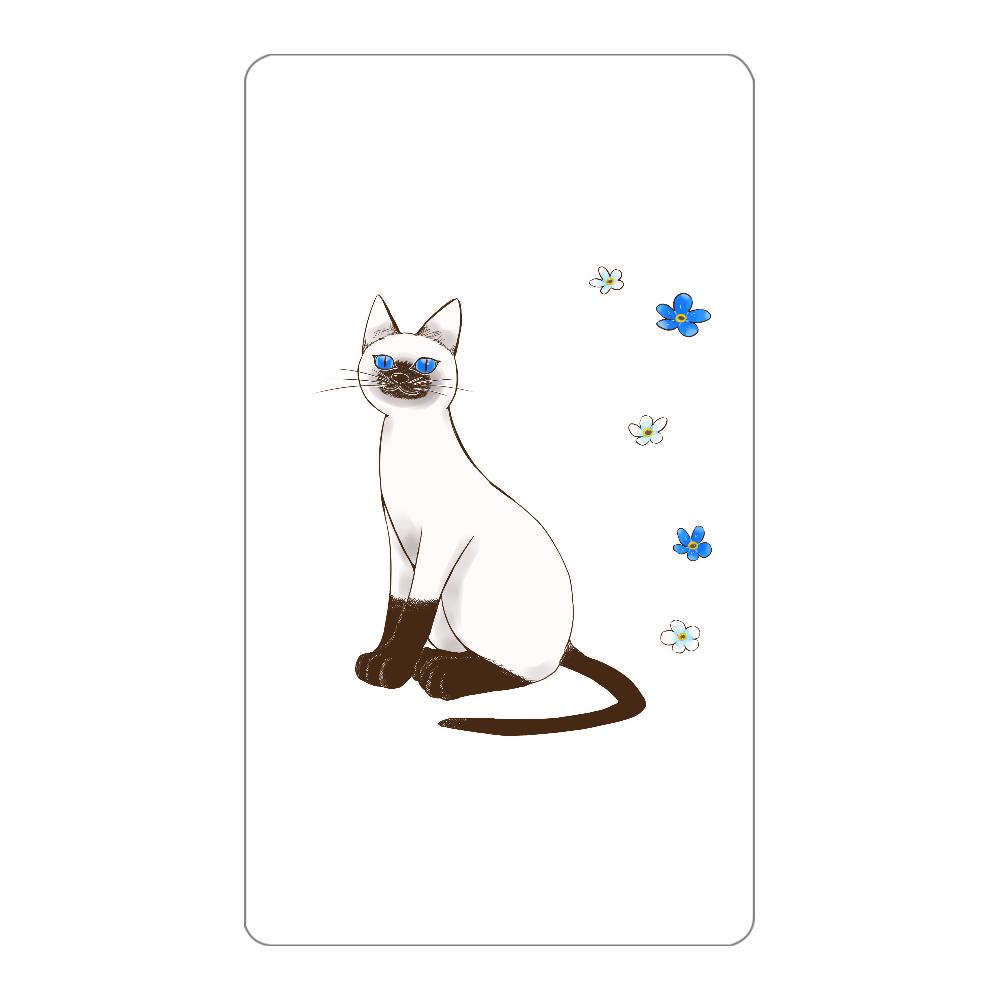 青い目の猫と勿忘草モバイルバッテリー インジケータ無バッテリー4000mAh