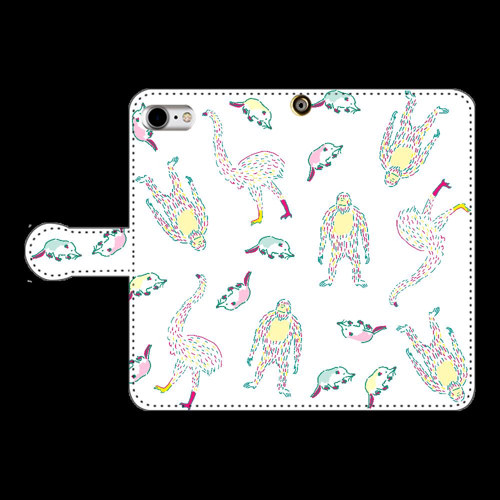 おおむかしの動物たち iPhoneSE2 手帳型スマホケース