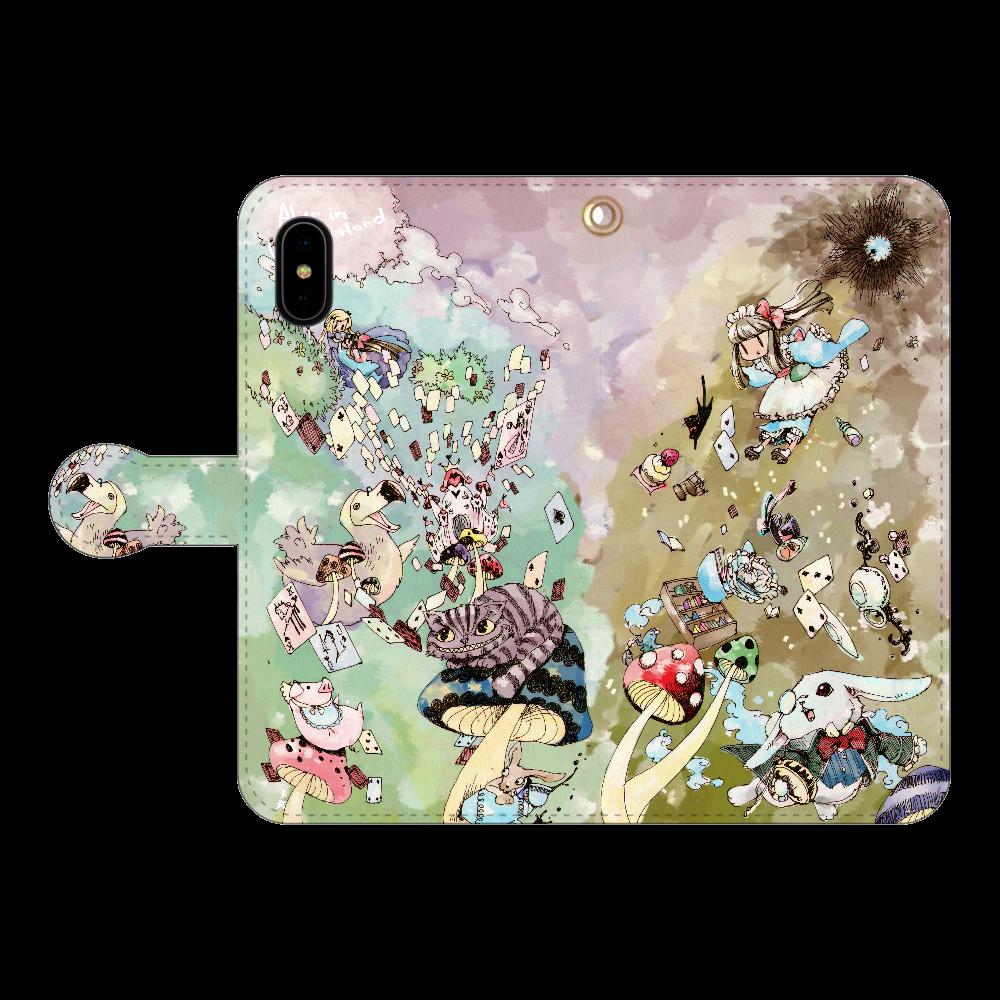 不思議の国のアリス iPhoneX/Xs 手帳型スマホケース