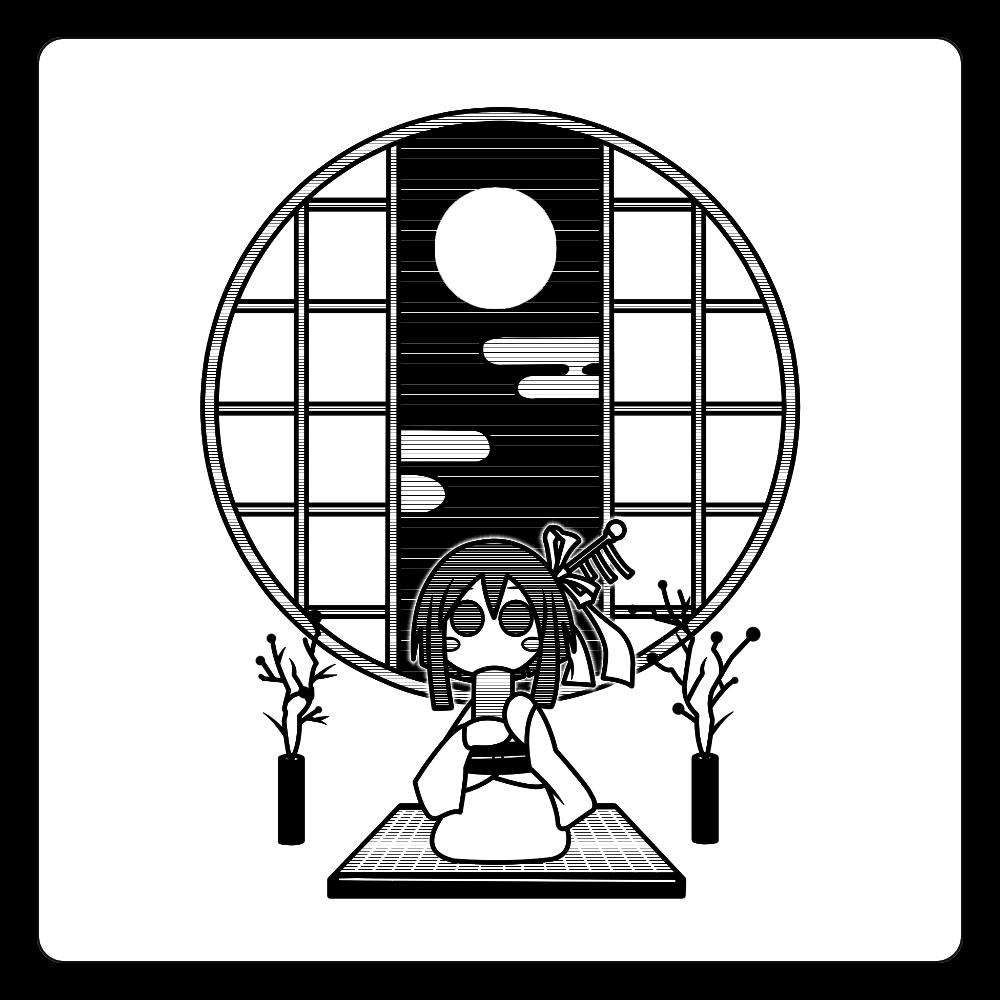 和室でお茶 コースター 白雲石コースター 四角