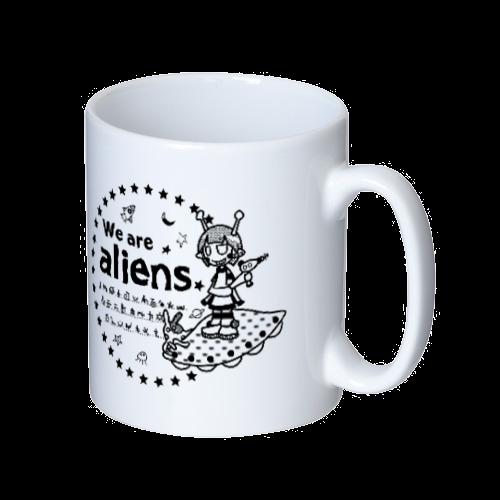 我々は宇宙人だ マグカップ マグカップ  ホワイト