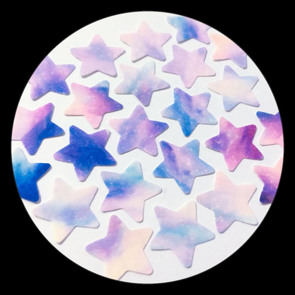 空のカケラ(パステル紫Ver.) 白雲石コースター 丸