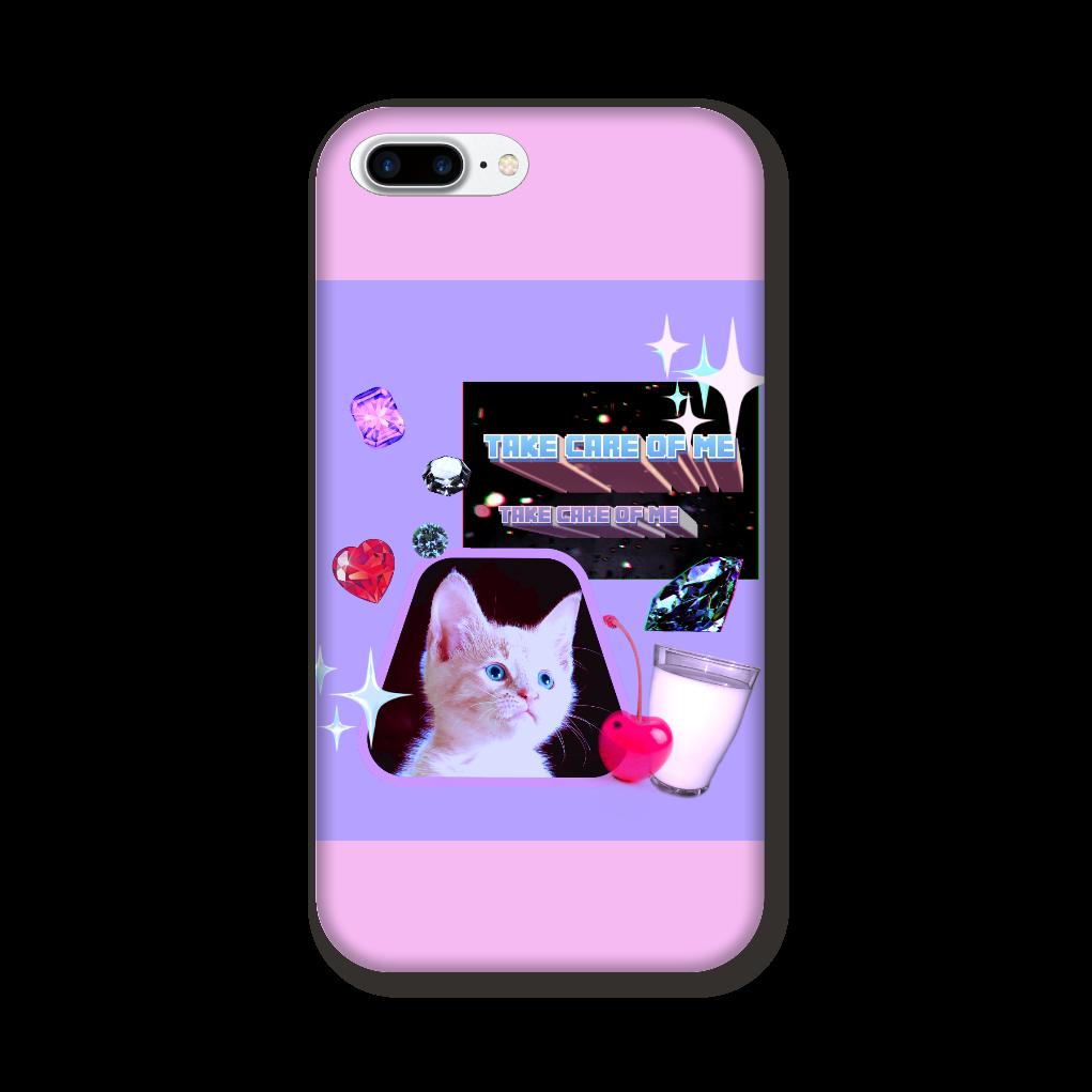 異次元ネコちゃん iPhone8Plus ツヤあり(コート) iPhone8Plus