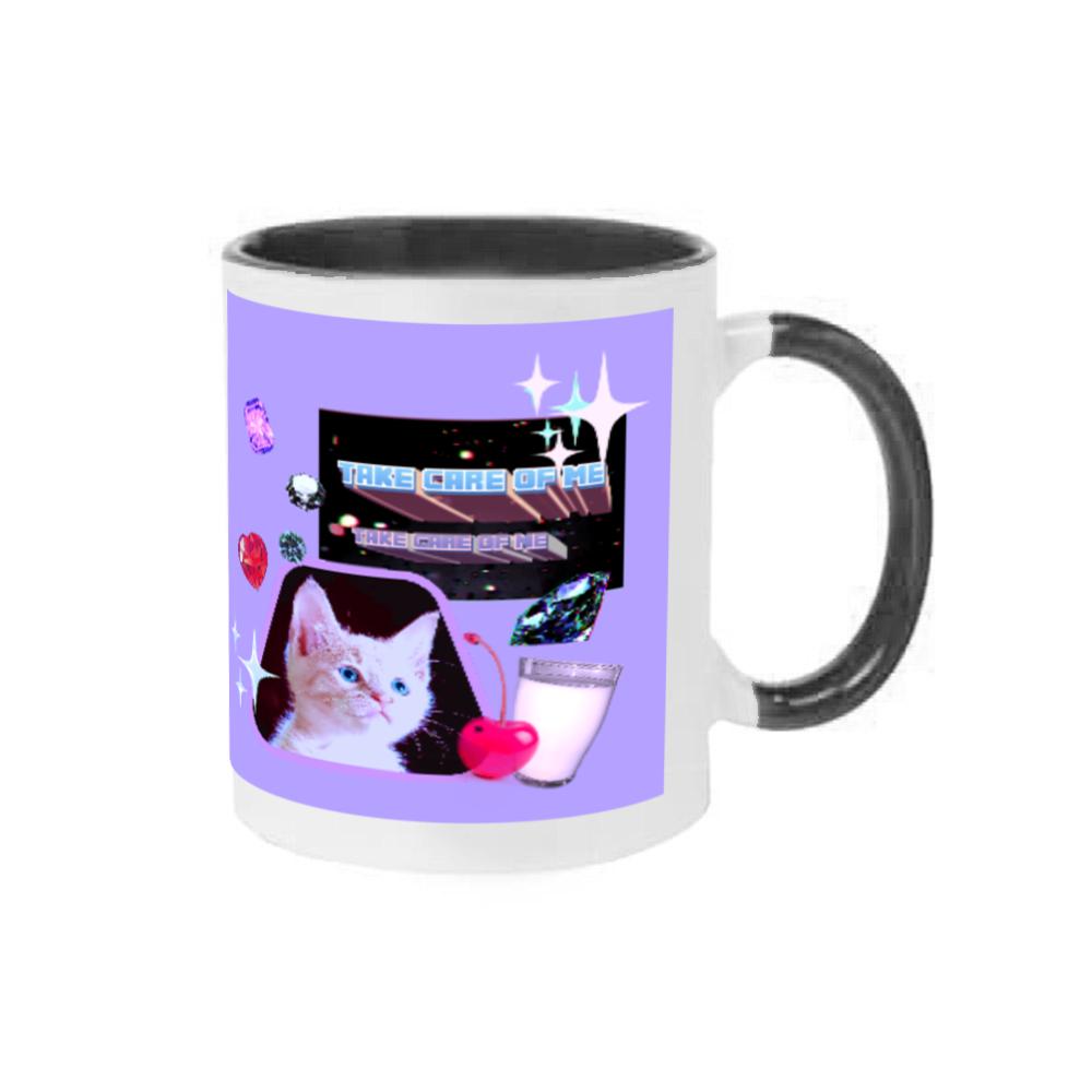 異次元ネコちゃん 2トーンマグカップ ブラック 2トーンマグカップ