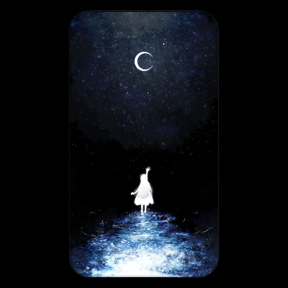 月と少女  残量表示付きモバイルバッテリー(4000mAh)