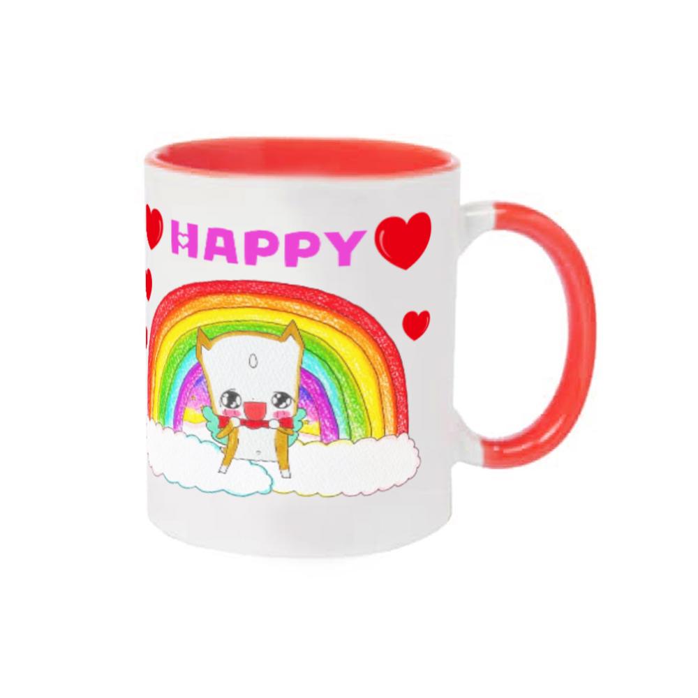 光の国のうっくん☆Happy~♡キラキラ!うれしど!マグカップ 2トーンマグカップ