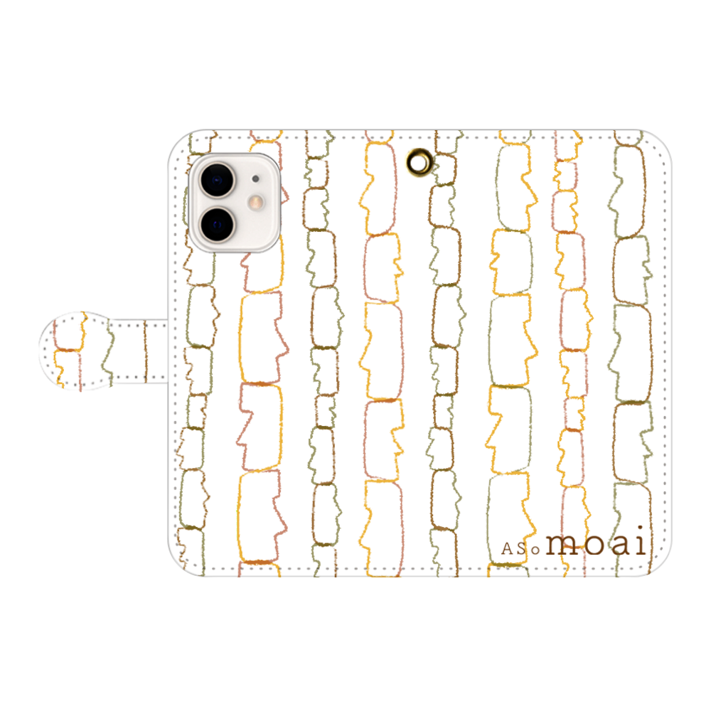 so moai iPhone12/12pro 手帳型スマホケース