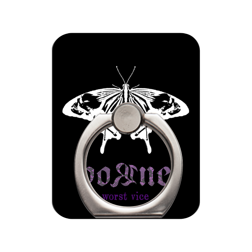 butterfly skull 2nd スマホリング