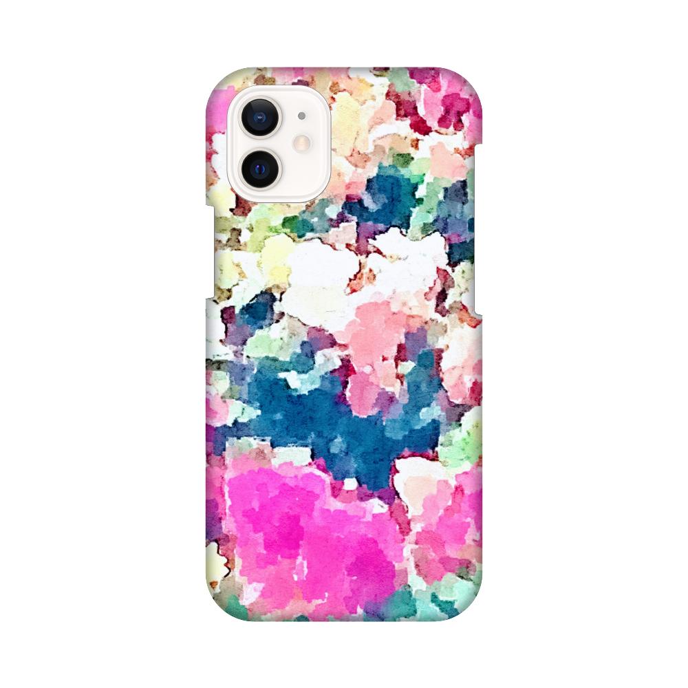 レトロフラワースマホケース(iPhone12mini) iPhone12 mini