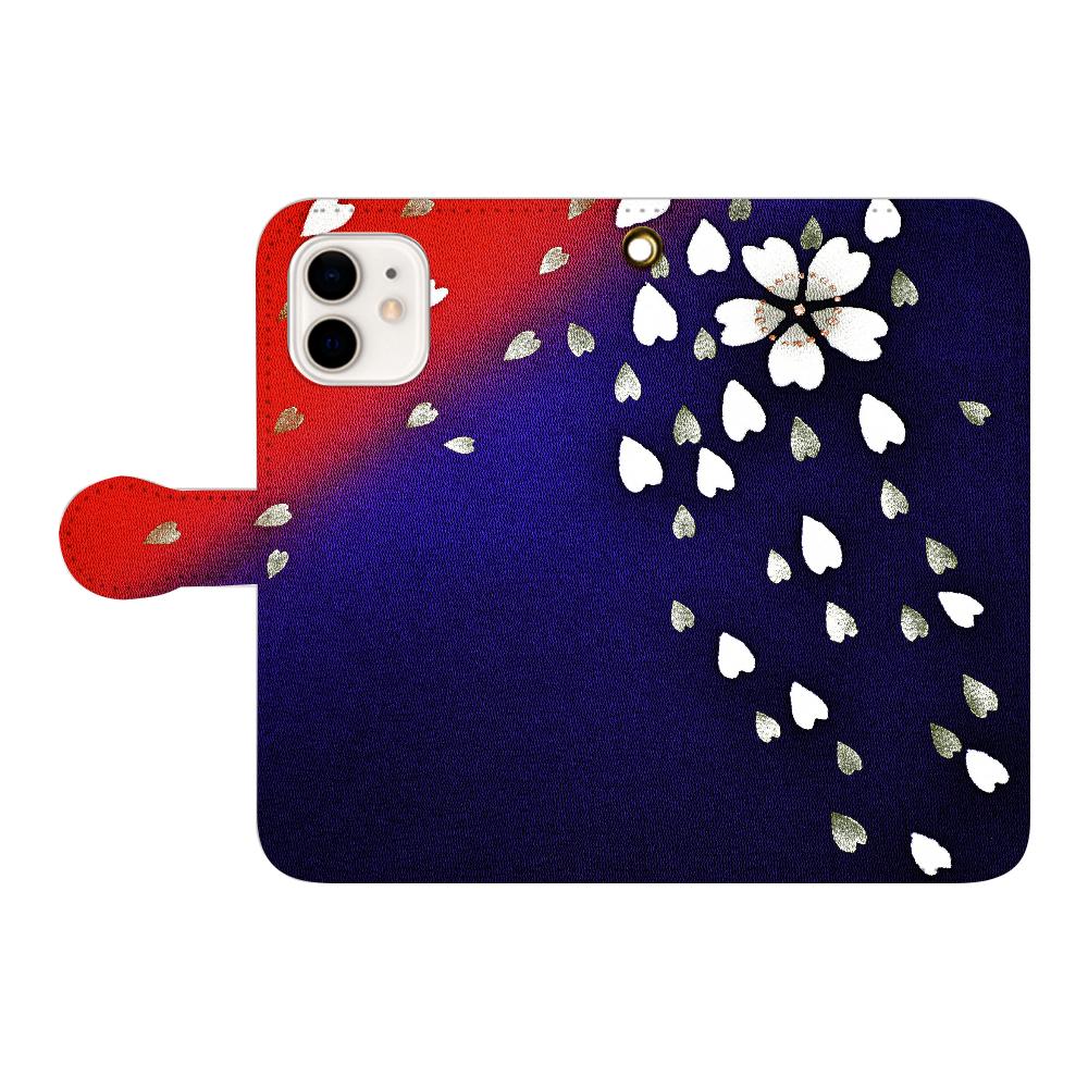 和柄 iPhoneケース 手帳型 9503 iPhone12/12pro 手帳型スマホケース