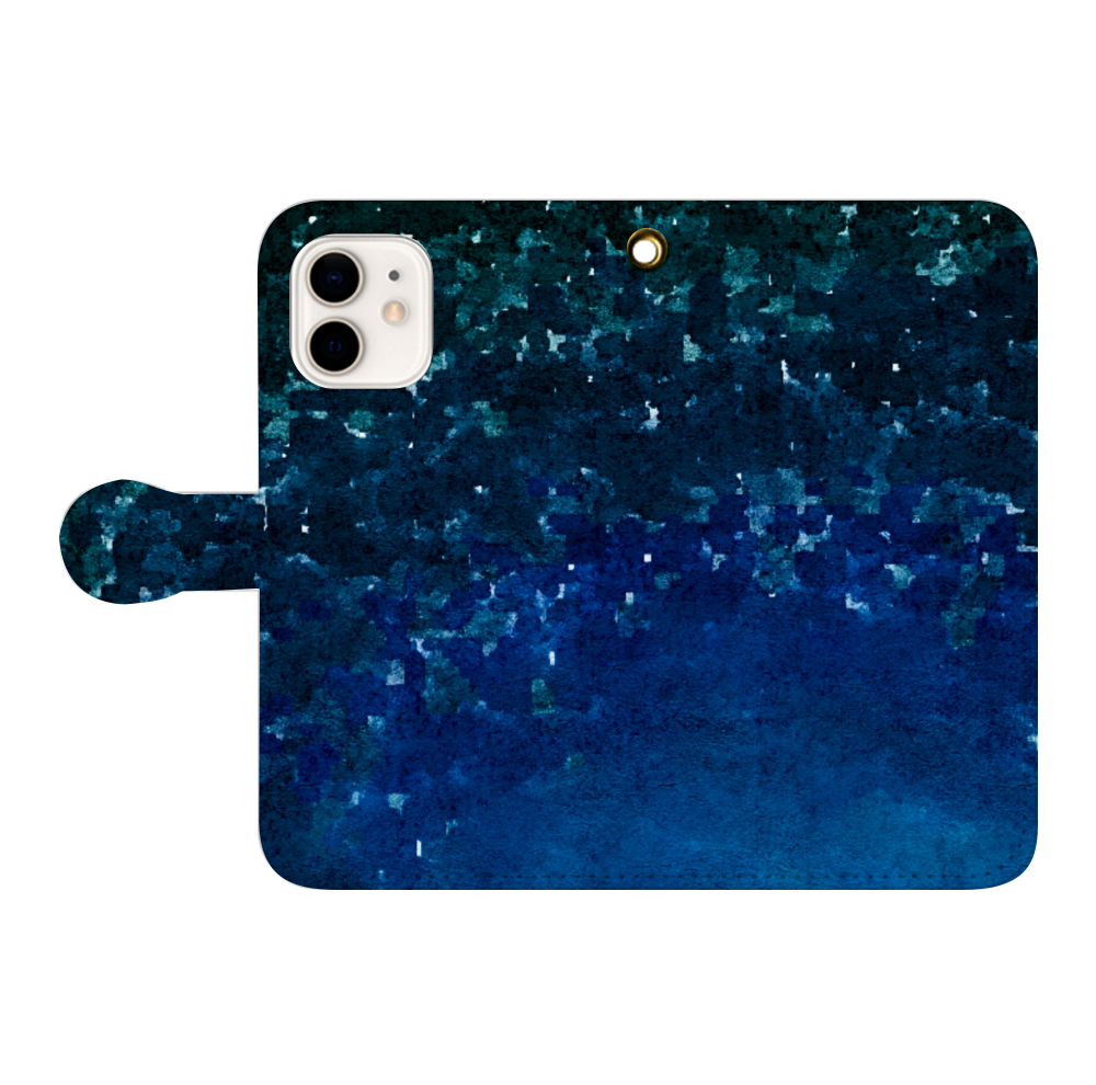 「夜空に願いを」スマホケース 手帳型(iPhone12/iPhone12pro対応) iPhone12/12pro 手帳型スマホケース