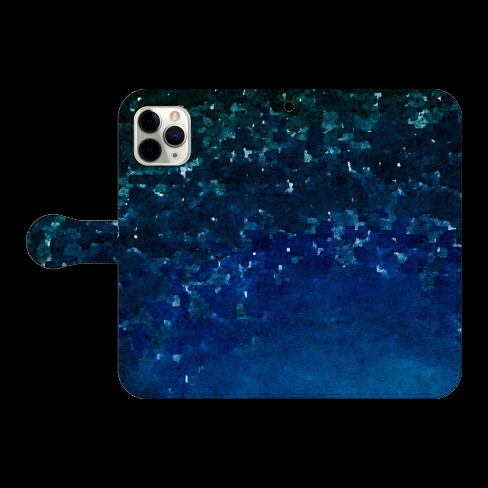 「夜空に願いを」スマホケース 手帳型(iPhone11pro対応) iPhone11 Pro 手帳型スマホケース