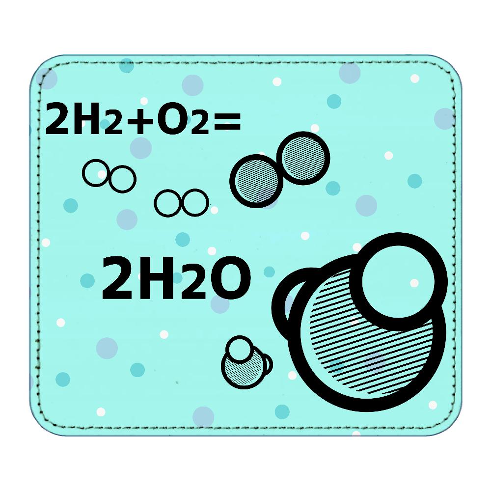 水分子 マウスパッド レザーマウスパッド(スクエア)