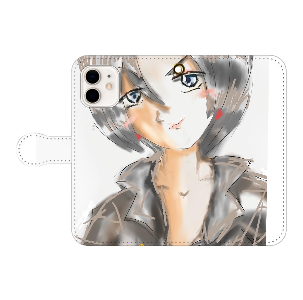 ショートカットのニヒルな姉 iPhone12/12pro 手帳型スマホケース