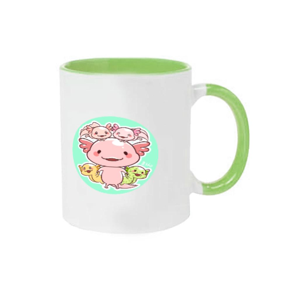 ウーパールーパーツートンカラーマグカップ☆チャンネルアイコン☆ 2トーンマグカップ