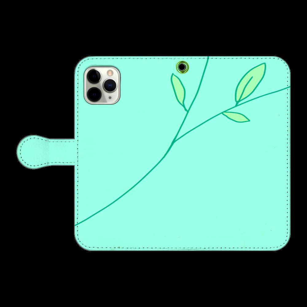 緑 iPhone11 Pro 手帳型スマホケース