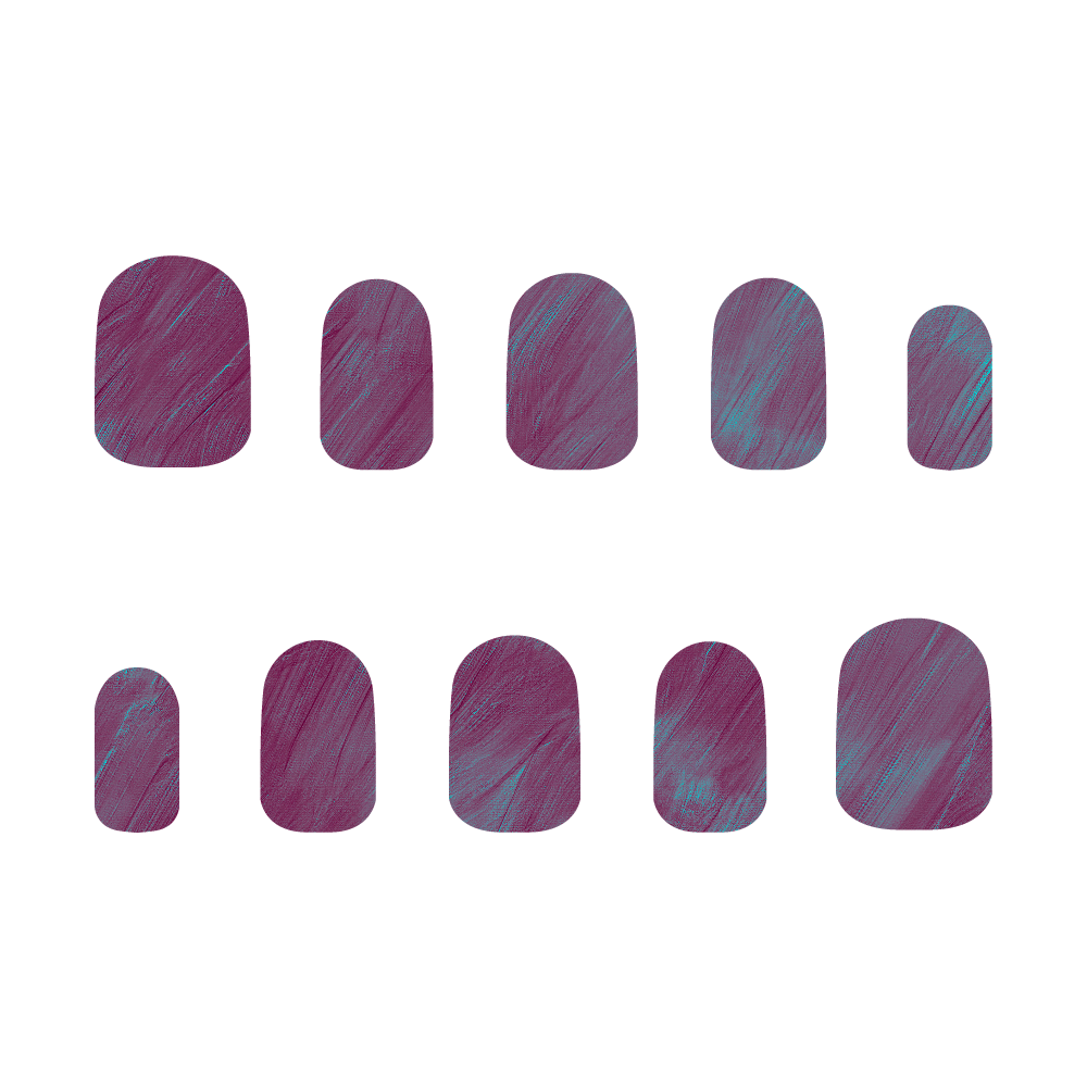 紫×水色 ネイルチップS