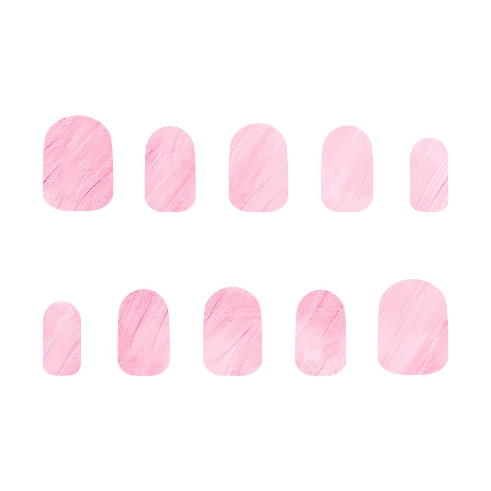 ピンク ネイルチップS