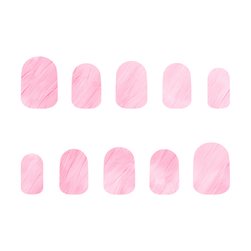 ピンク ネイルチップM