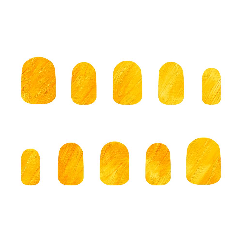 黄色 ネイルチップS