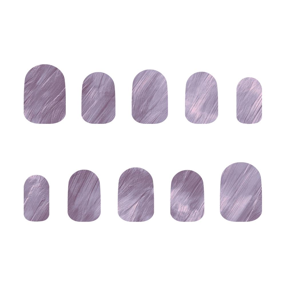 紫 ネイルチップM