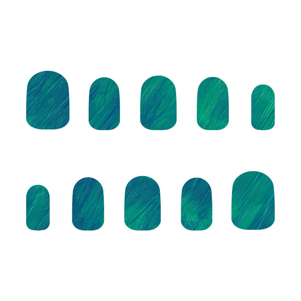 青×緑 ネイルチップS