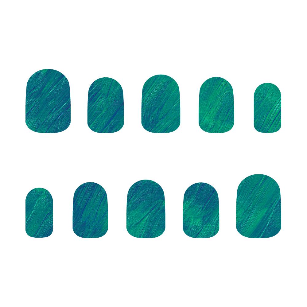 青×緑 ネイルチップM