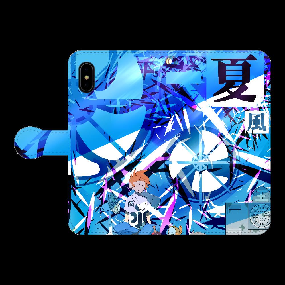 扇風機 iPhoneX/Xs 手帳型スマホケース
