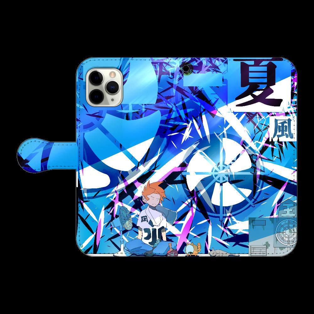 扇風機 iPhone11 Pro 手帳型スマホケース