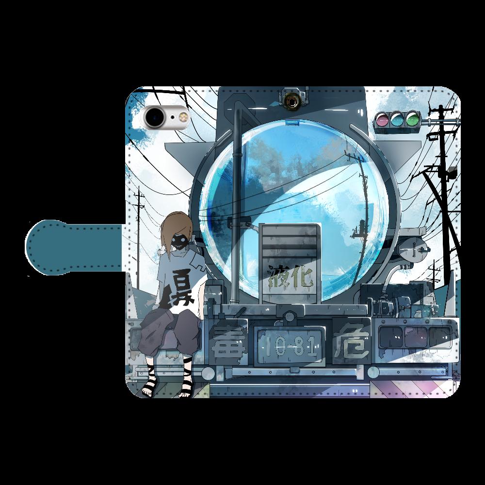 ローリーの反射鏡 手帳型ベルト付きiPhone8