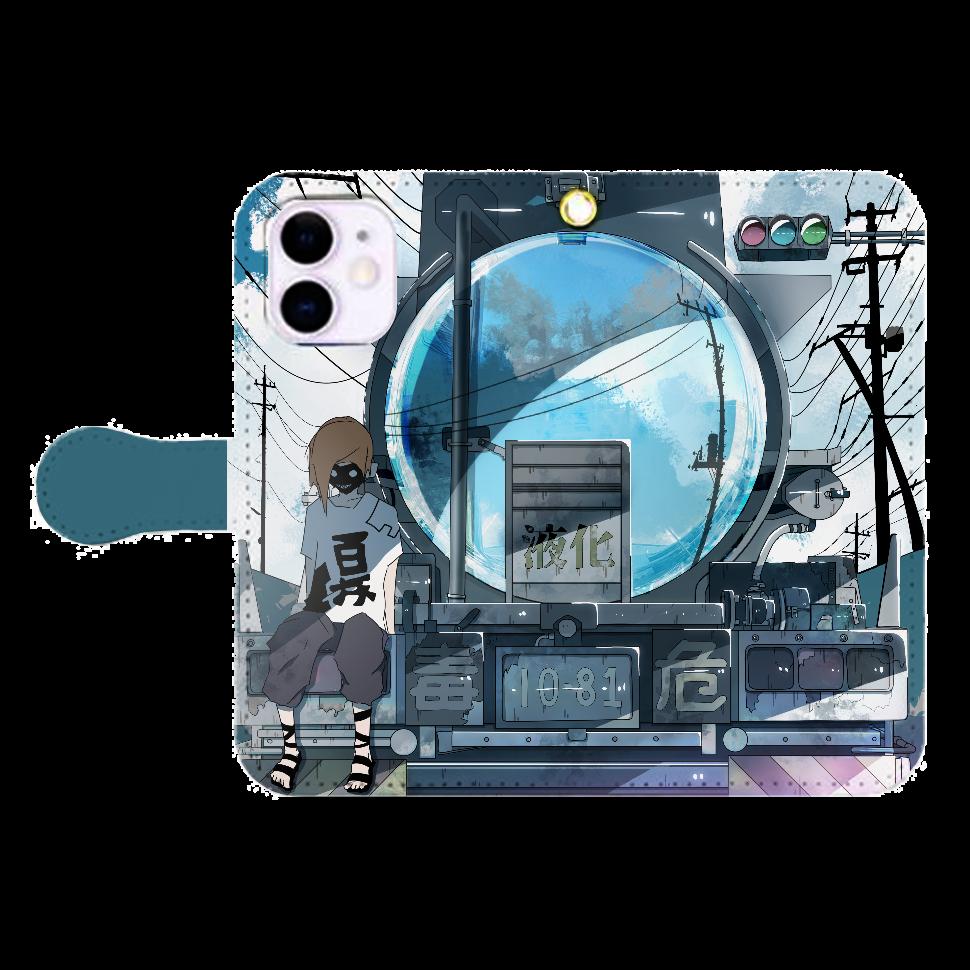 ローリーの反射鏡 iPhone12mini 手帳型スマホケース