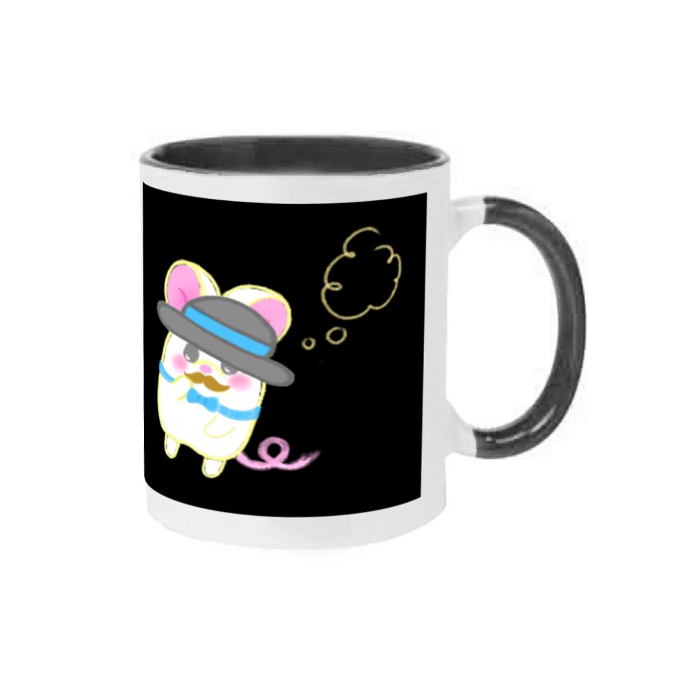 全部ひっくるめて言うと〜❁全5色♡表と裏にイラストありだ!と言ってます♪ 2トーンマグカップ