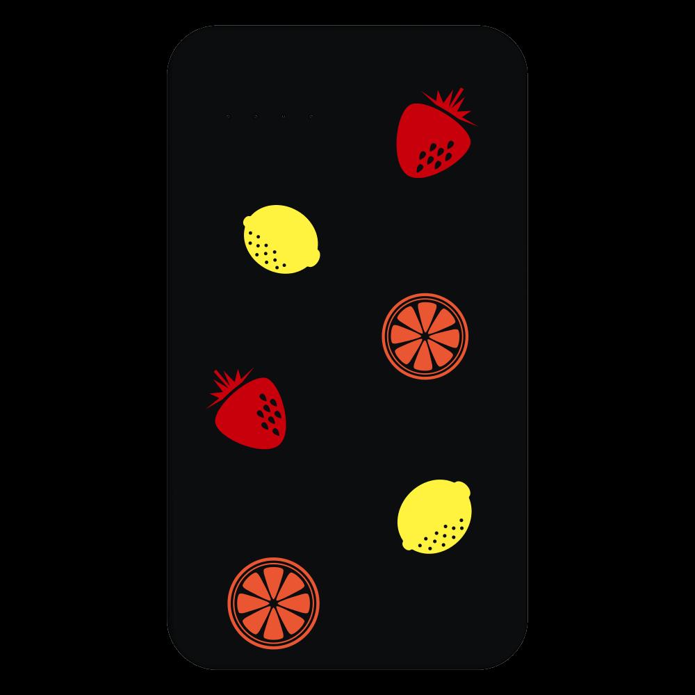 フレッシュフルーツ 残量表示付きモバイルバッテリー(4000mAh)