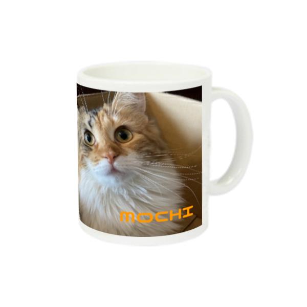 猫ラジマグカップ モチちゃん編 スーパーホワイトマグカップV1