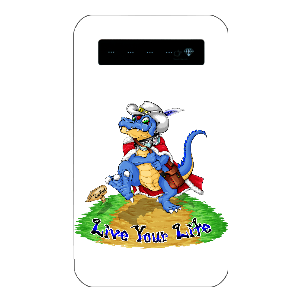 モバイルバッテリー 恐竜デザイン インジケータ有バッテリー4000mAh