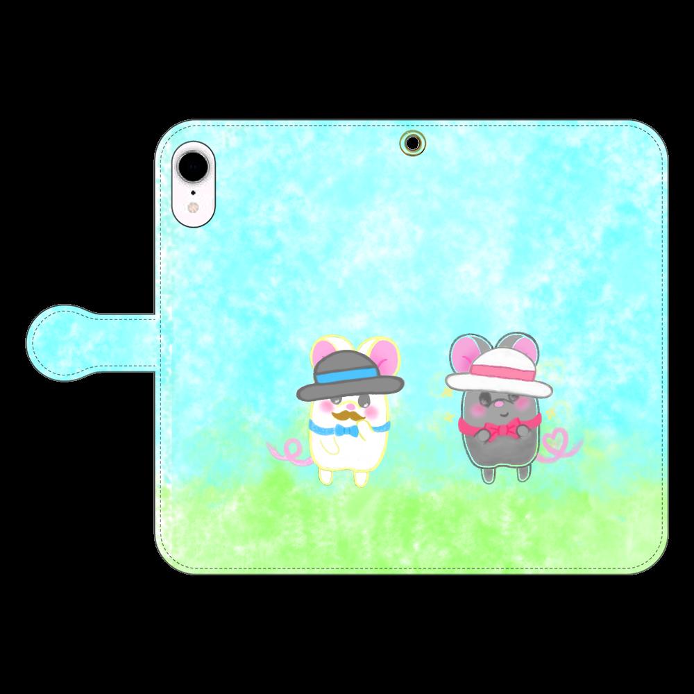 ねずみのテオと❁選べる♡iPhone手帳型スマホカバー(3ポケットタイプも選べます♡) iPhone XR 手帳型スマホケース