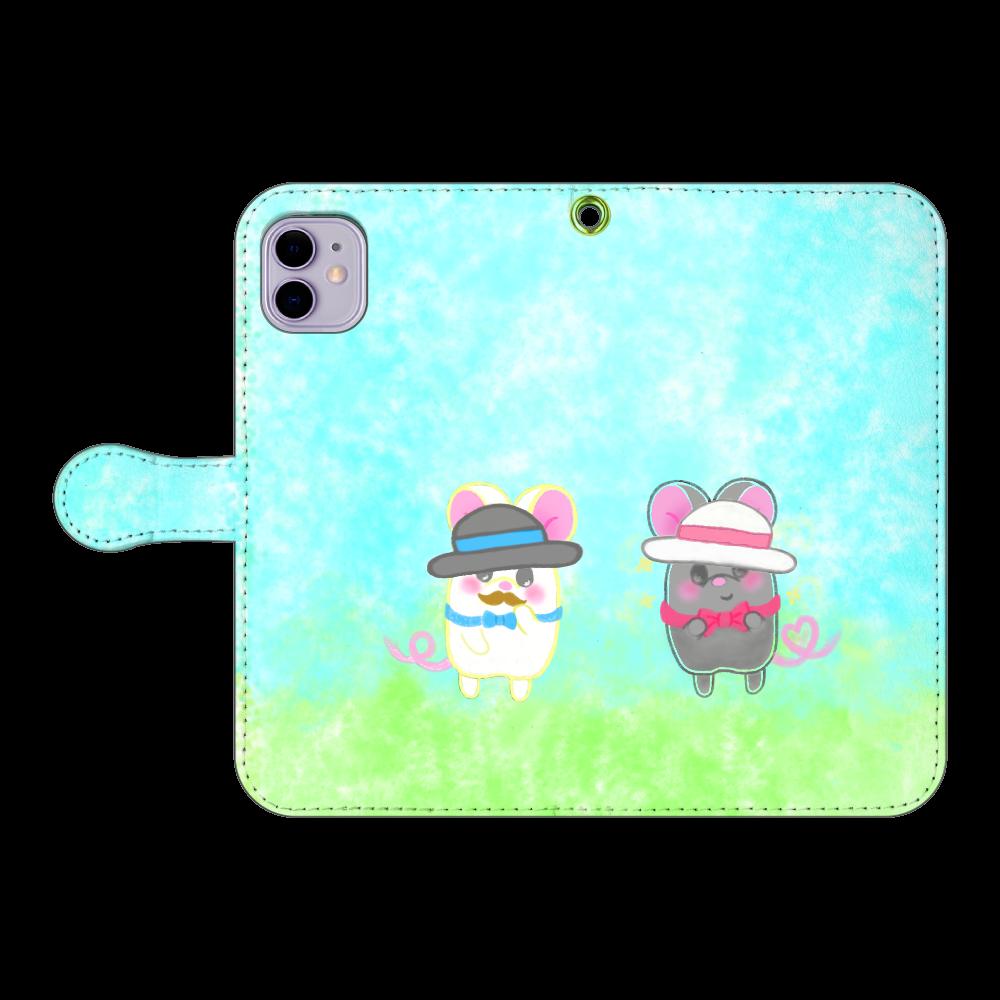 テオと♡選べる♡iPhone手帳型カバー(3ポケットタイプも選べます♡) iPhone11 手帳型スマホケース