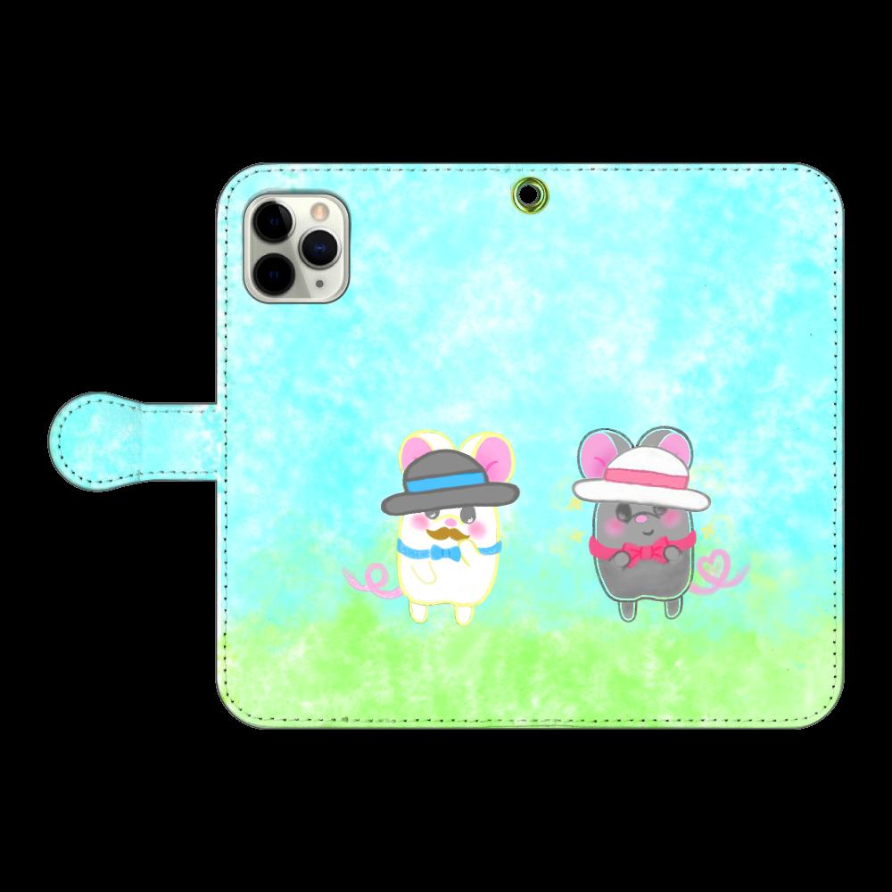 テオと♡選べる♡iPhone手帳型カバー(3ポケットタイプも選べます♡) iPhone11 Pro 手帳型スマホケース