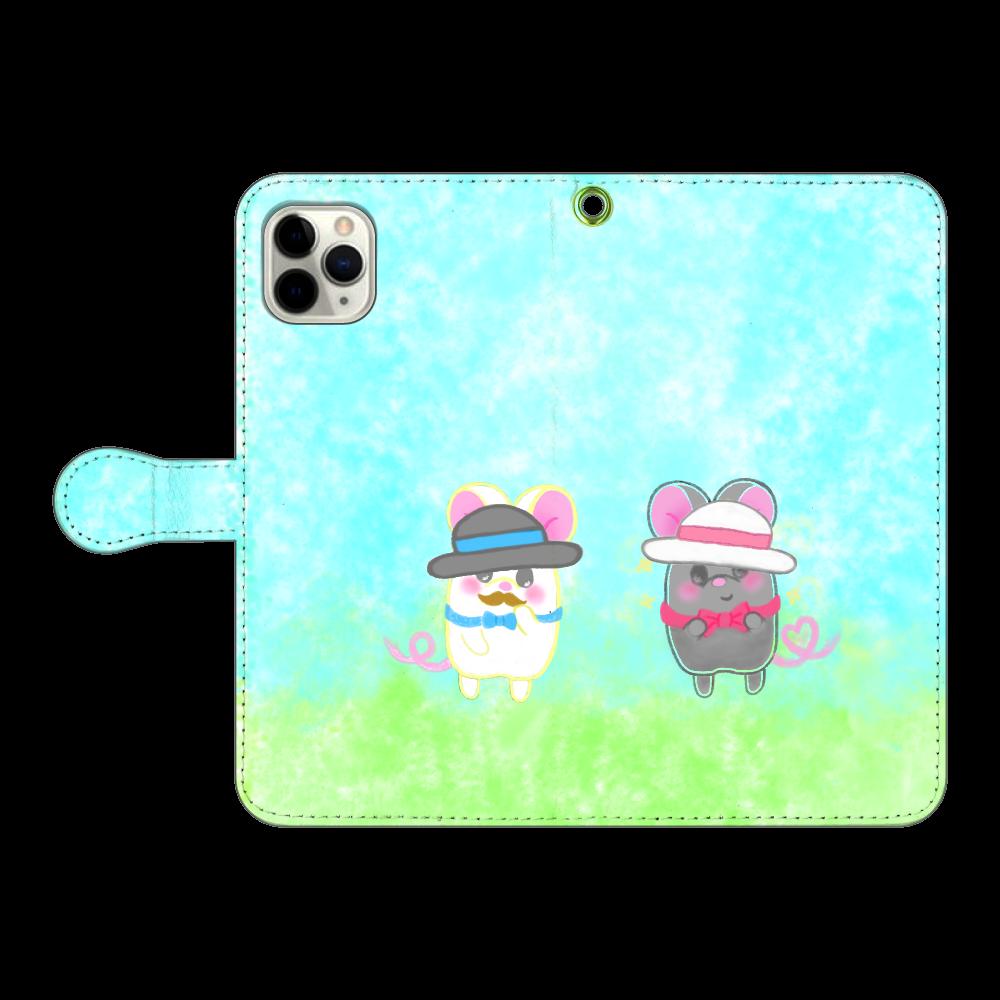 テオと♡選べる♡iPhone手帳型カバー(3ポケットタイプも選べます♡) iPhone11 Pro MAX 手帳型スマホケース