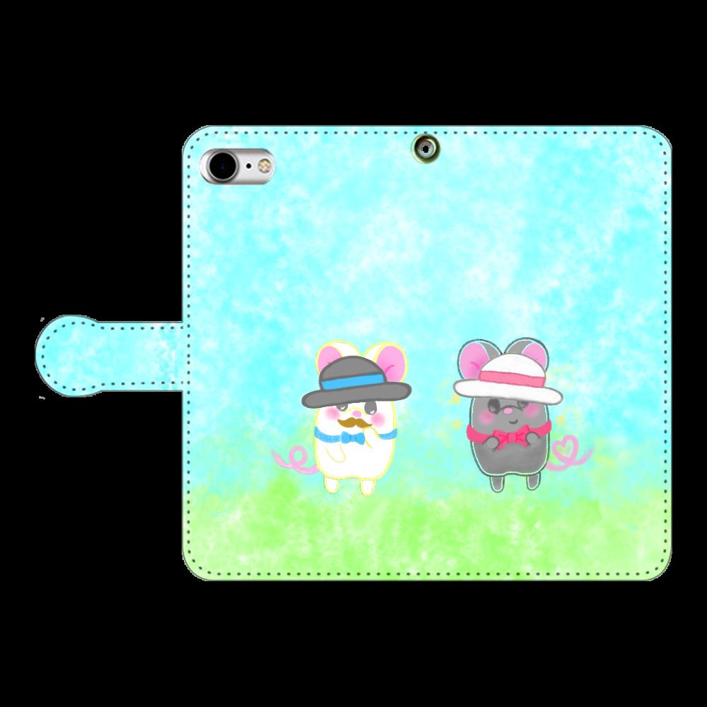 テオと♡選べる♡iPhone手帳型カバー(3ポケットタイプも選べます♡) iPhoneSE2 手帳型スマホケース