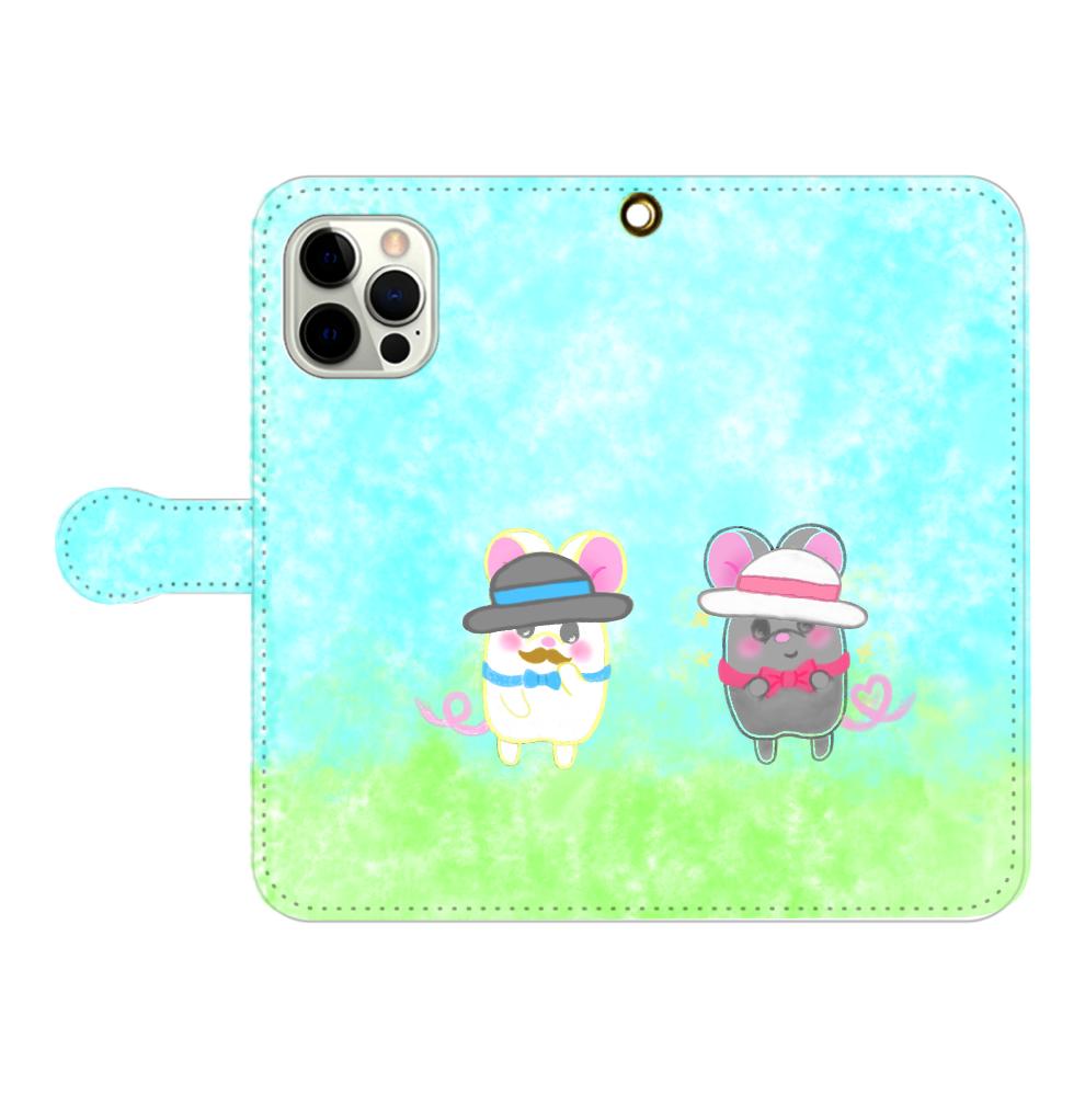 テオと♡選べる♡iPhone手帳型カバー(3ポケットタイプも選べます♡) iPhone12pro max 手帳型スマホケース
