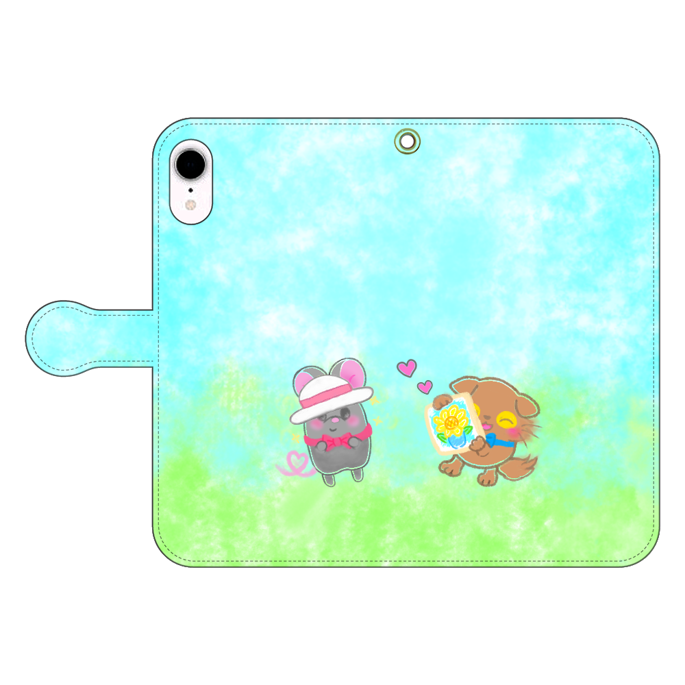 ニャッホと♡選べる♡iPhone手帳型カバー(3ポケットタイプも選べます♡) iPhone XR 手帳型スマホケース