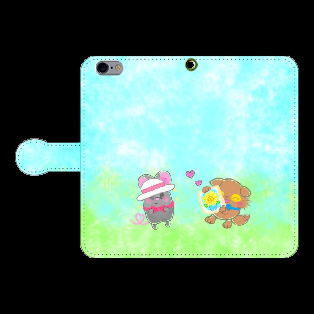 ニャッホと♡選べる♡iPhone手帳型カバー(3ポケットタイプも選べます♡) iPhone6/6s 手帳型スマホケース