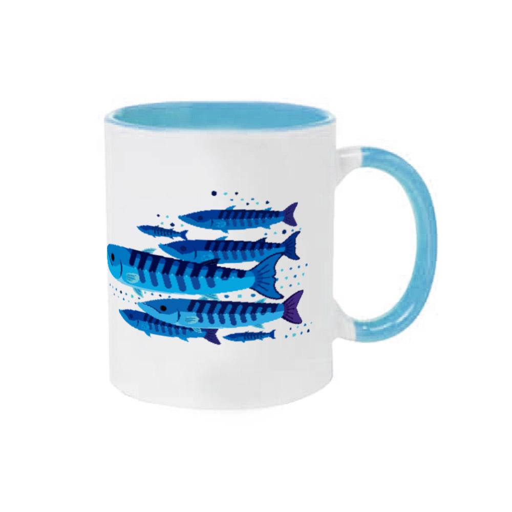カマスブルー 2トーンマグカップ