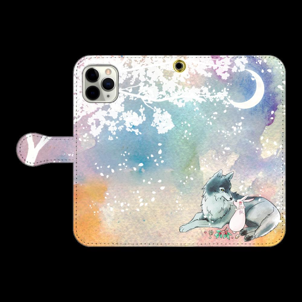 狼とうさぎ iPhone11 Pro 手帳型スマホケース
