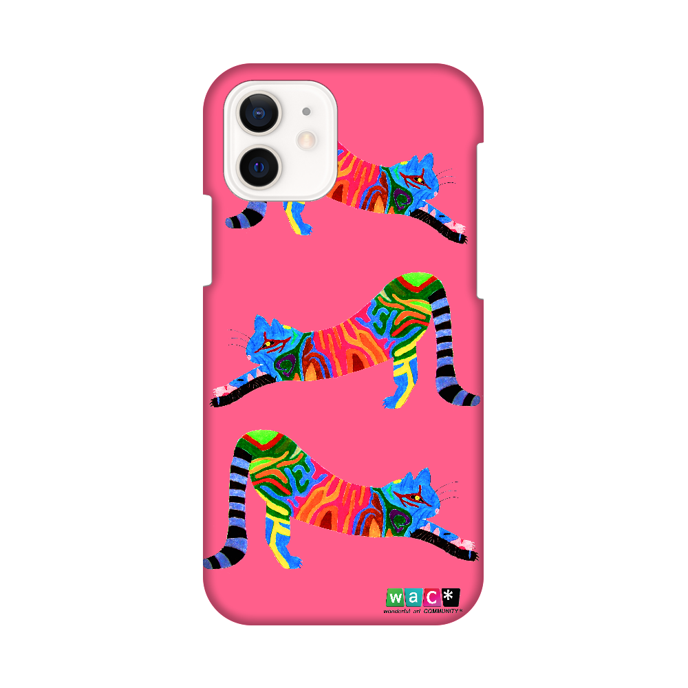 対応機種:iphone12/pro  ポリカーボネート樹脂 猫001 iPhone12 / 12 Pro
