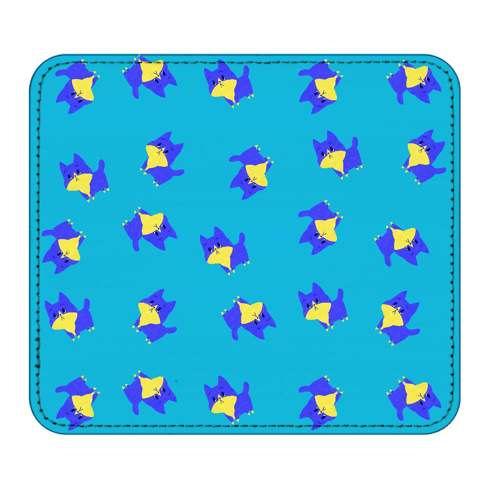 ViViVi Cat's -Blue The Chubby Cat- レザーマウスパッド(スクエア)