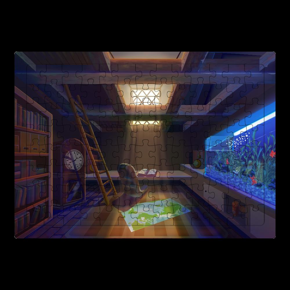 「屋根裏」ジグソーパズル ジグソーパズル A4サイズ 104ピース