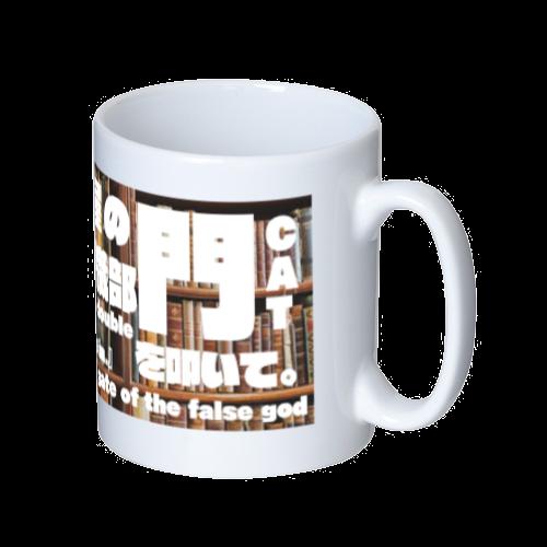 ギジン屋の門を叩いてロゴマグカップ【猫宮織部】 マグカップ  ホワイト